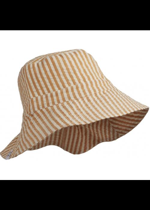 Liewood Liewood Sander Bucket Hat Stripe Mustard/White