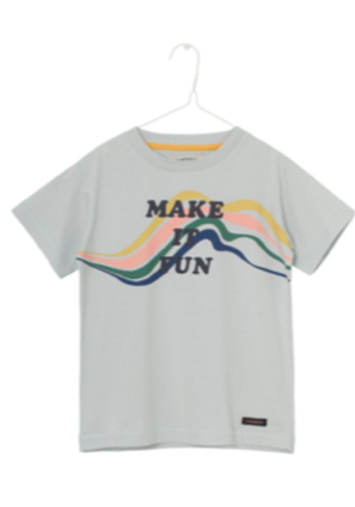 A Monday in Copenhagen Fun T-shirt Misty Blue