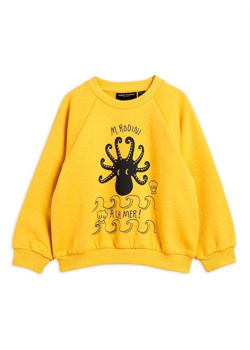 Mini Rodini Mini Rodini Octopus Sweatshirt Yellow