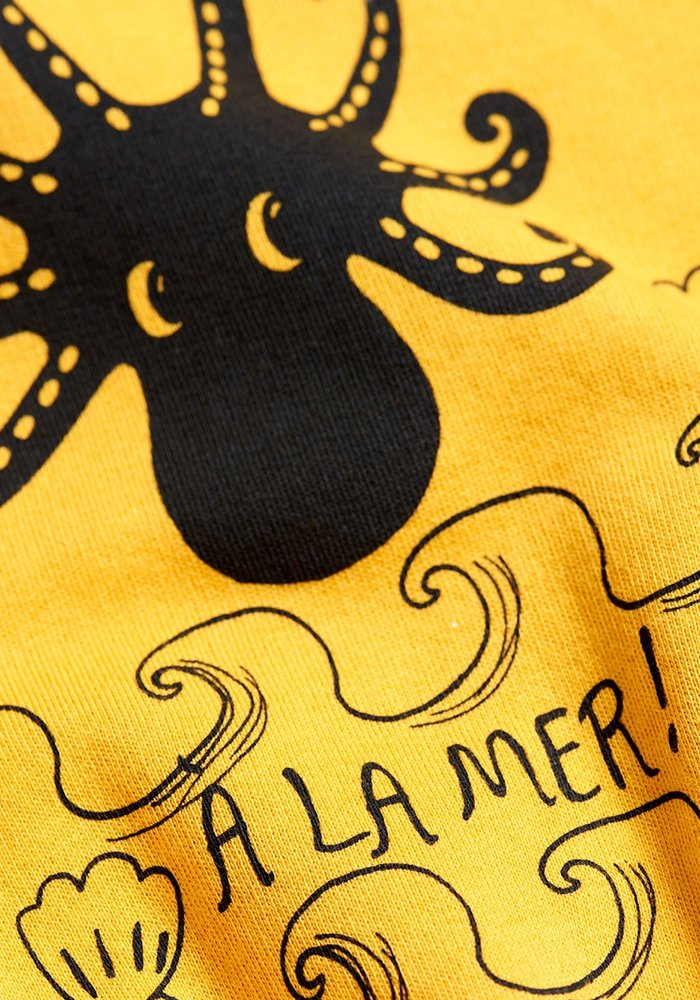 Mini Rodini Octopus Sweatshirt Yellow