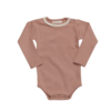 Blossom Kids Blossom Kids Body Long Sleeve with Lace Soft Rib Toffee Blush