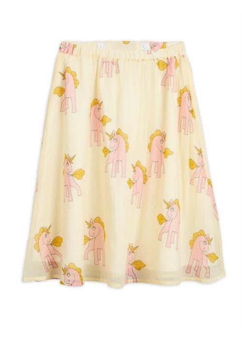 Mini Rodini Mini Rodini Unicorns Woven Long Skirt