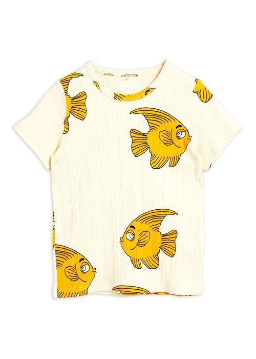 Mini Rodini Mini Rodini Fish SS Tee Offwhite