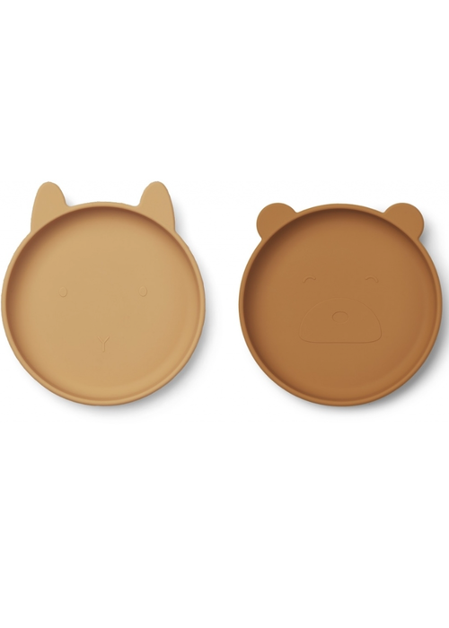 Liewood Liewood Olivia Silicone Plate 2-pack Mustard Mix