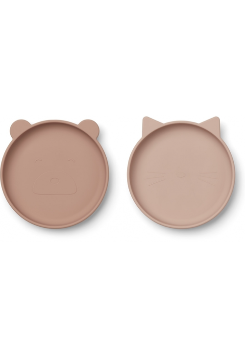 Liewood Liewood Olivia Silicone Plate 2-pack Rose Mix
