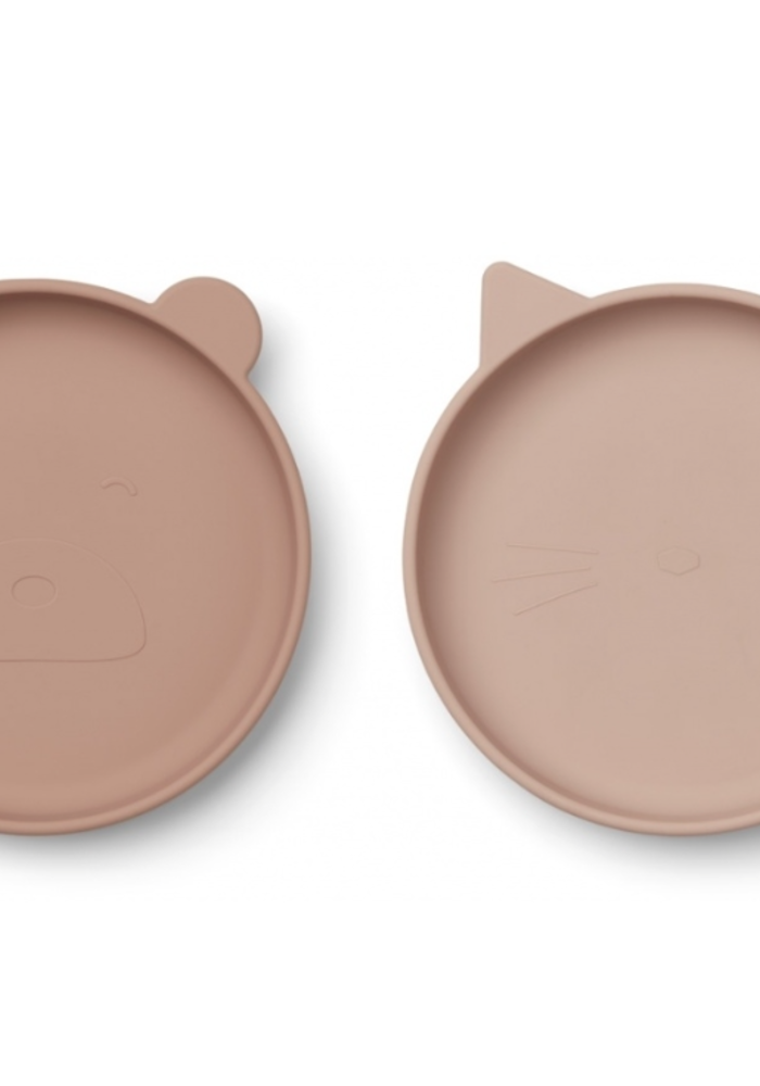 Liewood Olivia Silicone Plate 2-pack Rose Mix