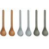 Liewood Liewood Etsu Bamboo Spoon 6-pack Blue Multi Mix