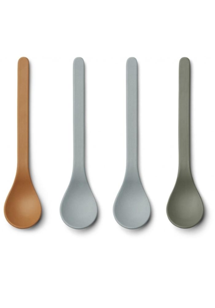 Liewood Etsu Bamboo Spoon 6-pack Blue Multi Mix