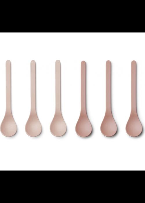 Liewood Liewood Etsu Bamboo Spoon 6-pack Blush Mix