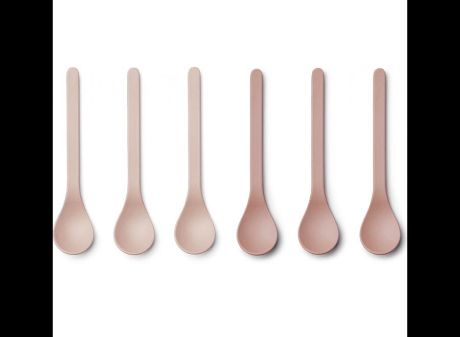 Liewood Etsu Bamboo Spoon 6-pack Blush Mix