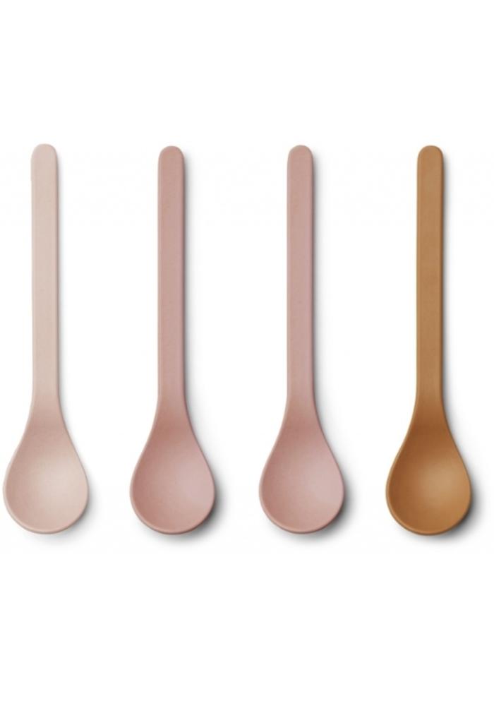 Liewood Etsu Bamboo Spoon 6-pack Rose Multi Mix