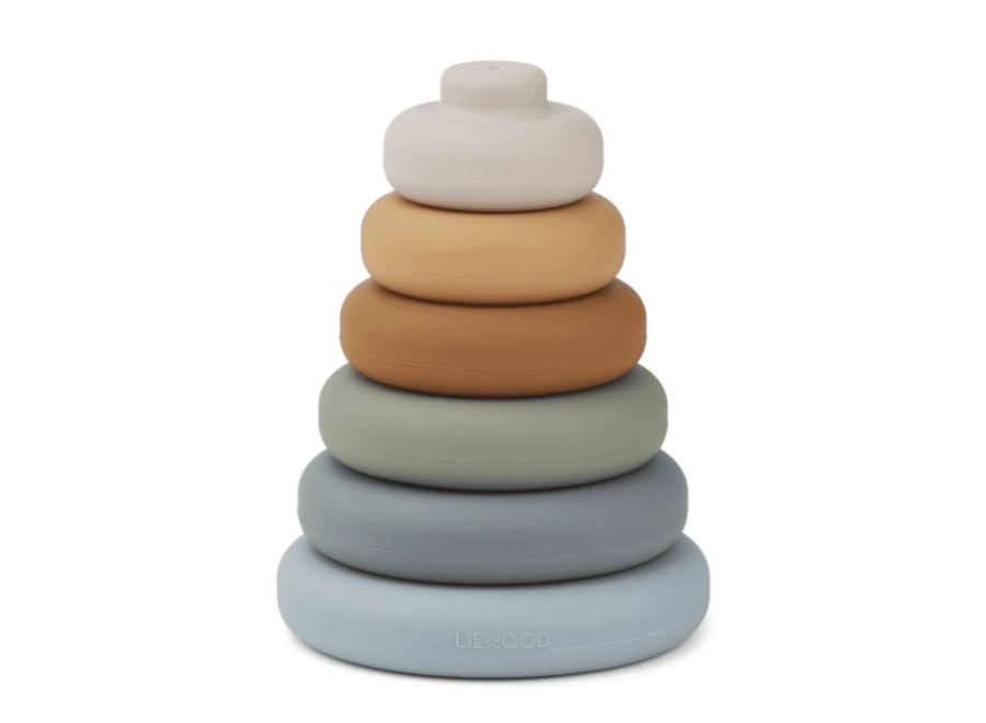 Liewood Dag Stacking Tower Blue Multi Mix