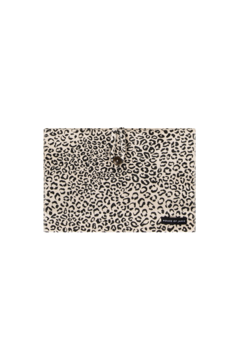 House of Jamie House of Jamie Nappy Pouch Snow Leopard Velvet