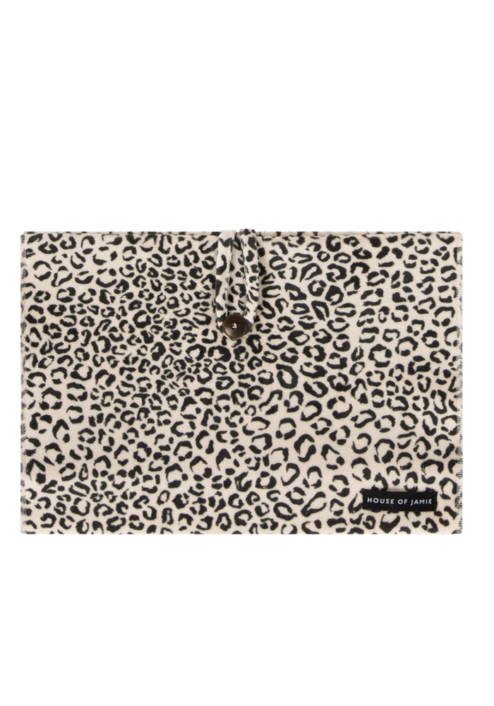House of Jamie Nappy Pouch Snow Leopard Velvet