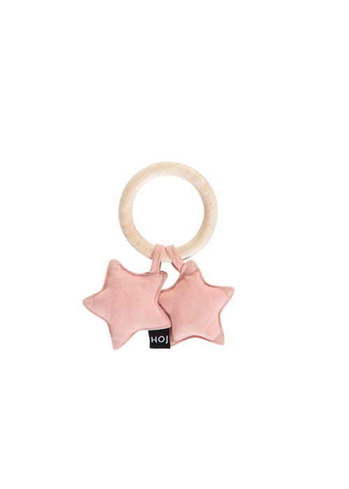 House of Jamie House of Jamie Teething Ring Stars Powder Pink