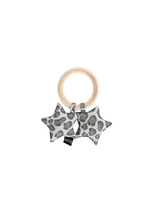 House of Jamie House of Jamie Teething Ring Stars Rocky Leopard
