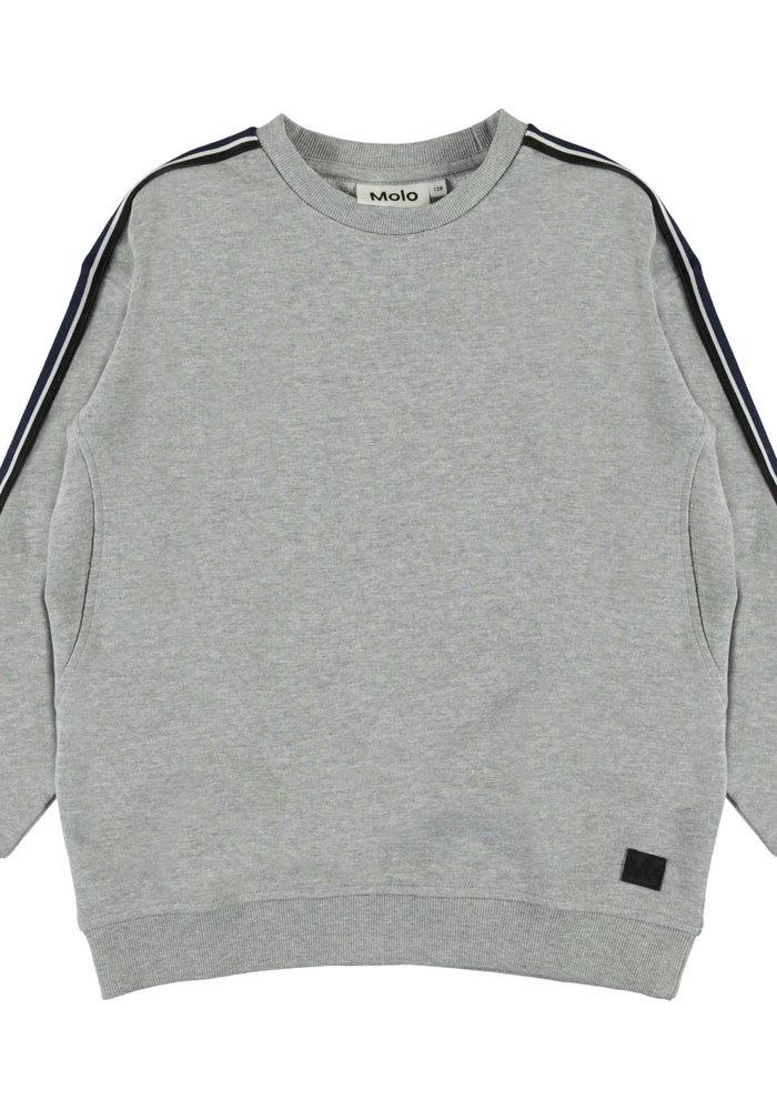 Molo Mons Sweat Shirt Grey Melagne
