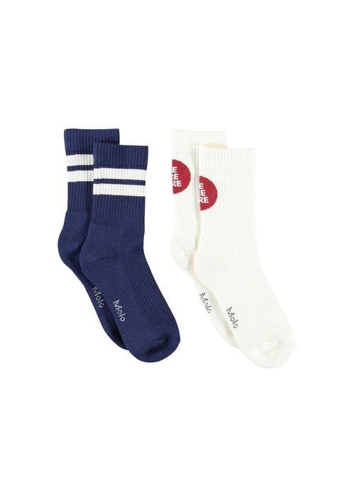 Molo Molo Norman Socks Dark White