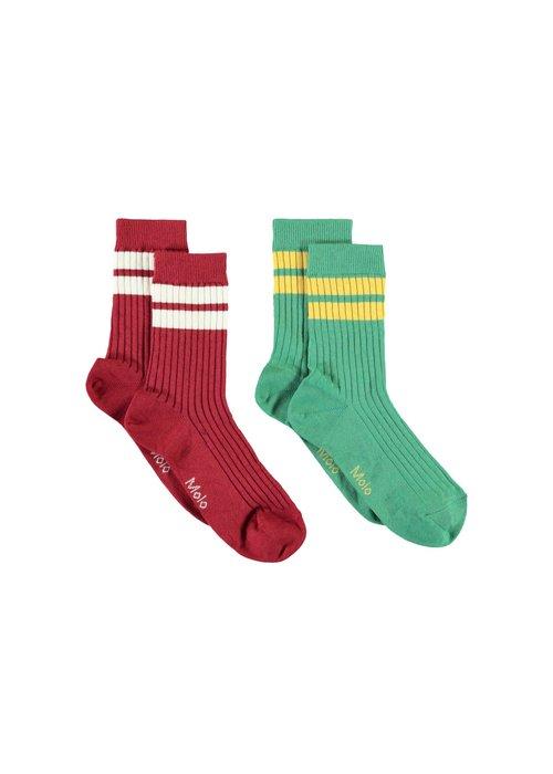 Molo Molo Nickey Socks Dark Red