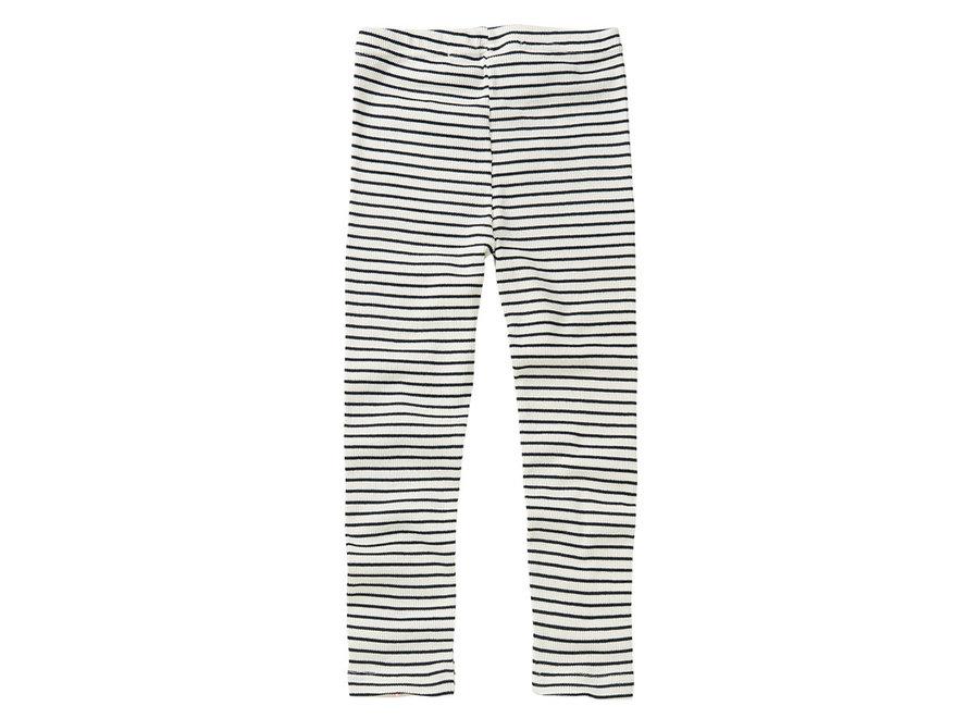 Mingo Rib Legging Stripes Black/White