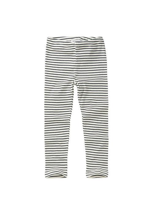 Mingo Mingo Rib Legging Stripes Black/White