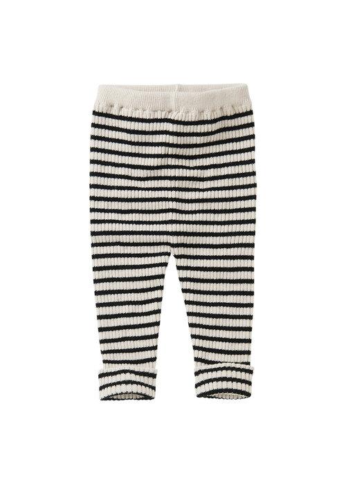 Mingo Mingo Baby Pants Stripes Black/White