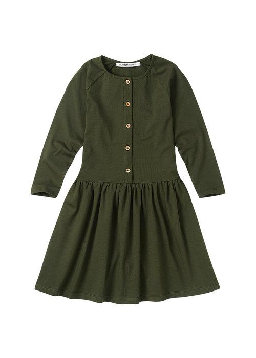 Mingo Mingo Button Dress Forest Night