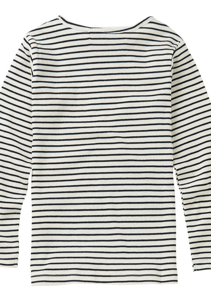 Mingo Rib Top Stripes Black/White