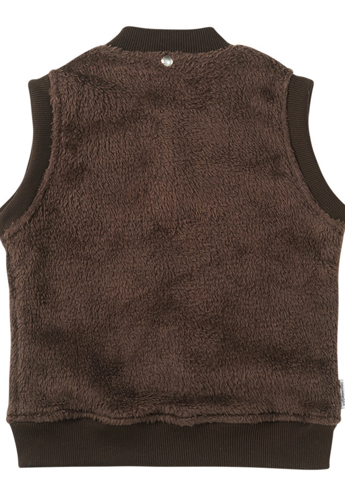 Mingo Fake Fur Bodywarmer Walnut