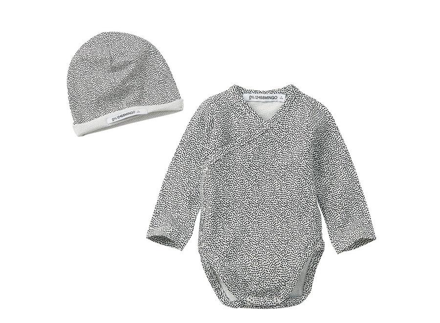 Mingo Newborn Set Dots Black/White