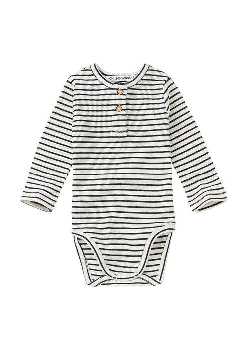 Mingo Mingo Rib Bodysuit Stripes Black/White