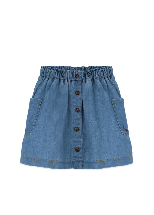 Ammehoela Ammehoela Flynn Skirt Denim-Blue