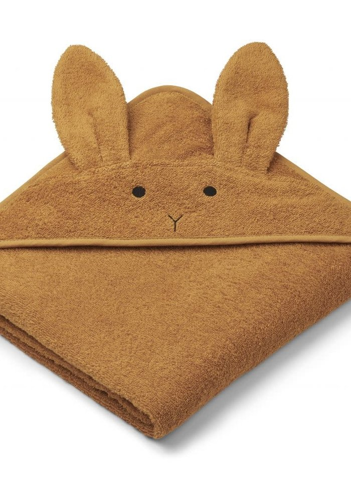 Liewood Augusta Hooded Towel Rabbit - Mustard