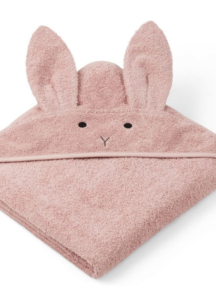 Liewood Augusta Hooded Towel Rabbit - dusty rose