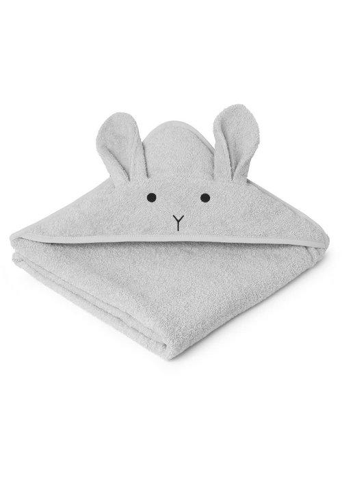Liewood Liewood Augusta Hooded Towel Rabbit - Dumbo grey