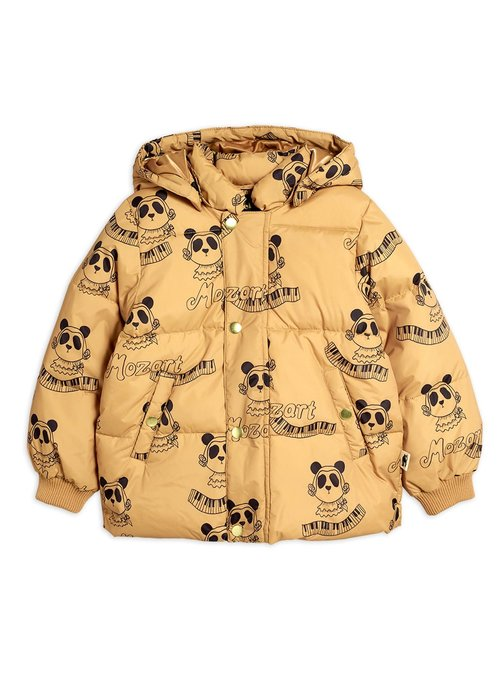 Mini Rodini Mini Rodini Mozart Panda Puffet Jacket Beige