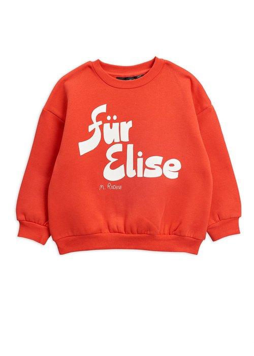 Mini Rodini Mini Rodini Für Elise SP Sweatshirt Red