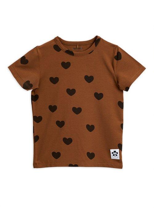 Mini Rodini Mini Rodini Hearts SS Tee Brown