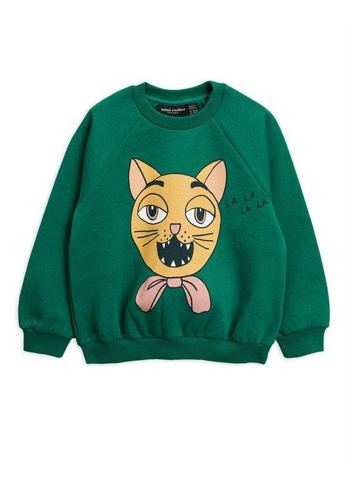 Mini Rodini Mini Rodini Cat Choir SP Sweatshirt Green