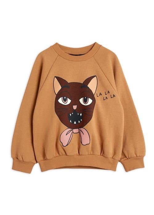 Mini Rodini Mini Rodini Cat Choir SP Sweatshirt Beige