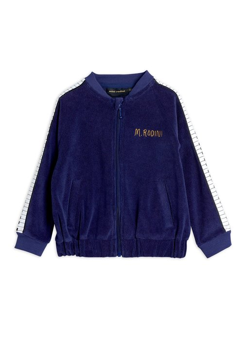 Mini Rodini Mini Rodini Piano Terry Jacket Navy