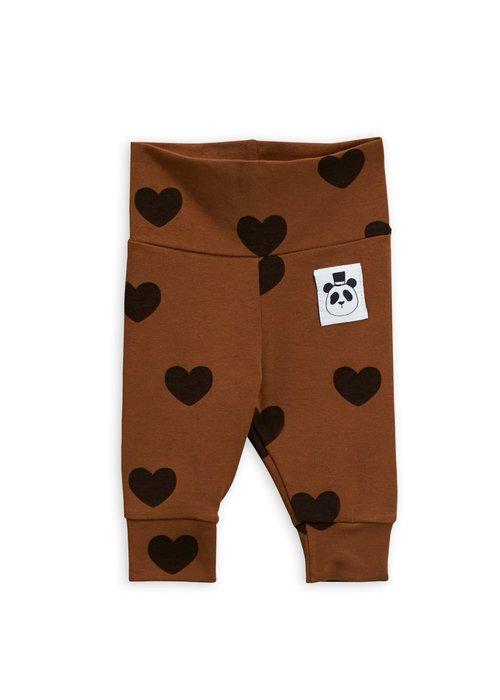 Mini Rodini Mini Rodini Hearts NB Leggings Brown