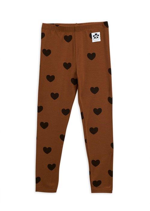 Mini Rodini Mini Rodini Hearts Leggings Brown
