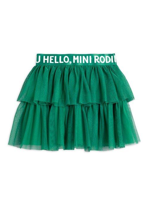 Mini Rodini Mini Rodini Tulle Skirt Green