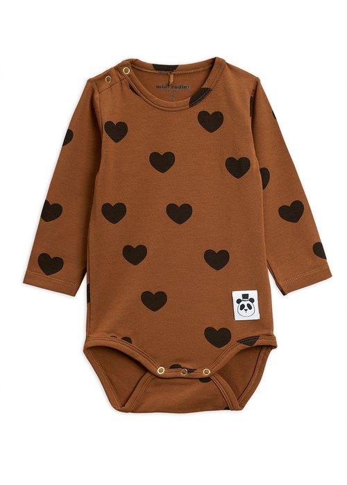 Mini Rodini Mini Rodini Hearts LS Body Brown
