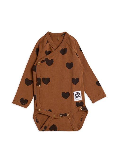 Mini Rodini Mini Rodini Hearts Wrap Body Brown