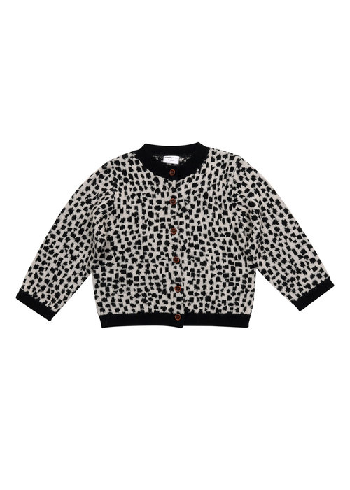 Maed for Mini Maed for Mini Snow Leopard Knit Cardigan AOP