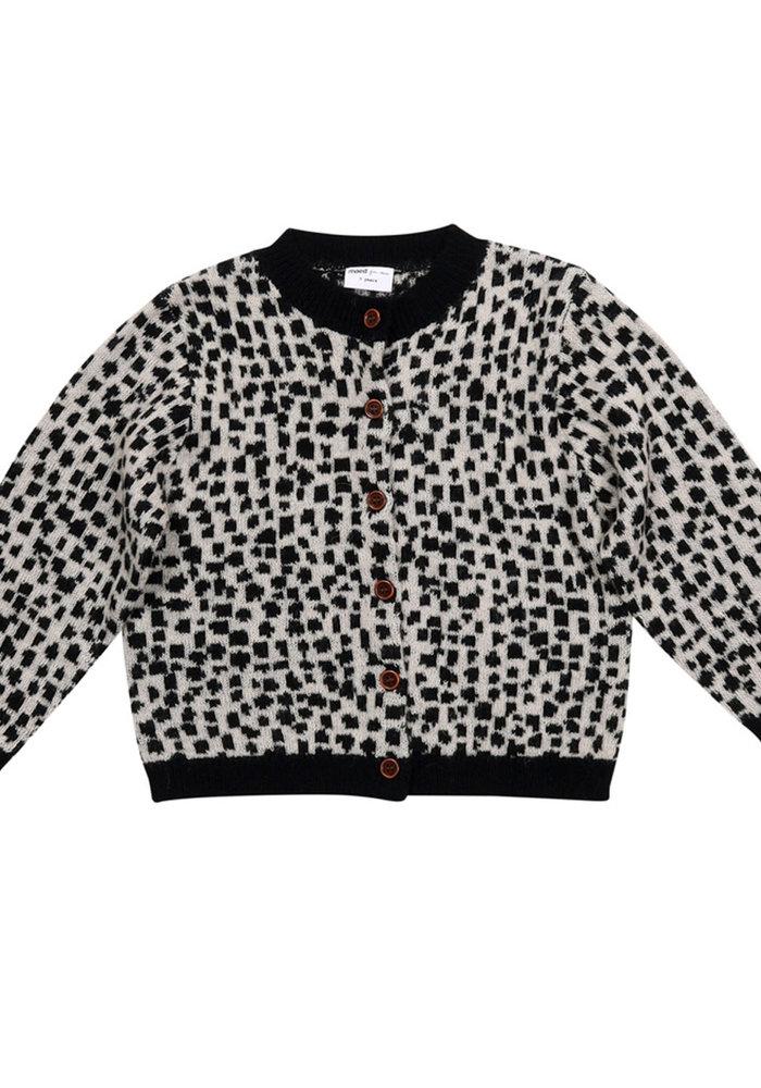 Maed for Mini Snow Leopard Knit Cardigan AOP