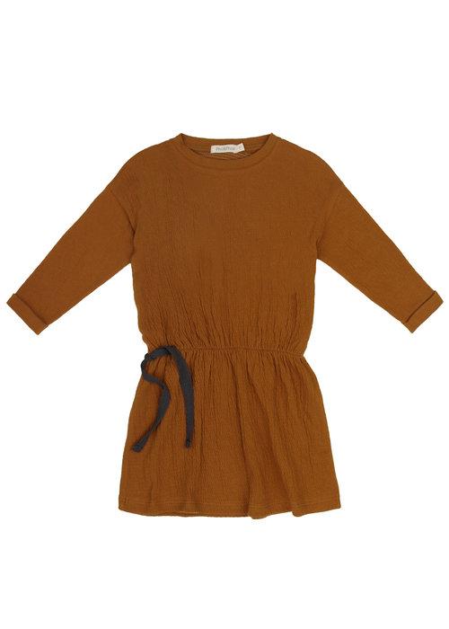 Phil&Phae Phil & Phae Textured Blouson Dress Golden Olive