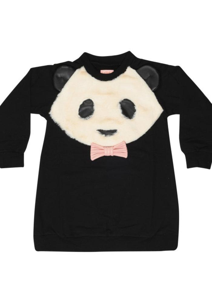 Wauw Capow Sweatdress Panda Love Black